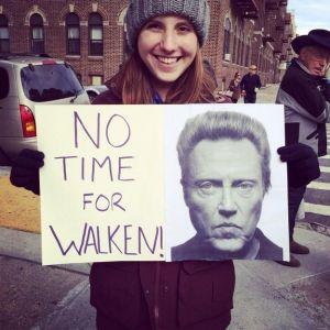 "TCS NY Marathon 2014 Sign ""Walken"""